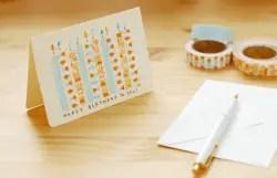 Tarjeta con cinta de tela adhesiva o fabric tape