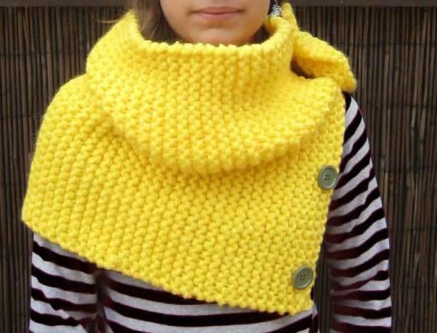Tutorial fácil para tejer un cuello de lana.