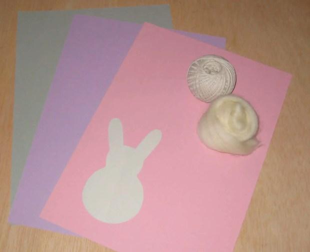 materiales para hacer una guirnalda de pascua