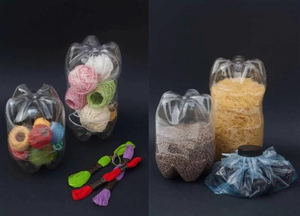 Cómo reutilizar botellas de plástico