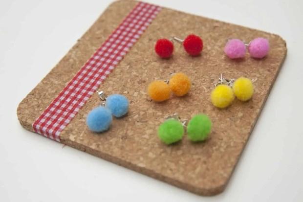DIY exprés: pendientes de colores