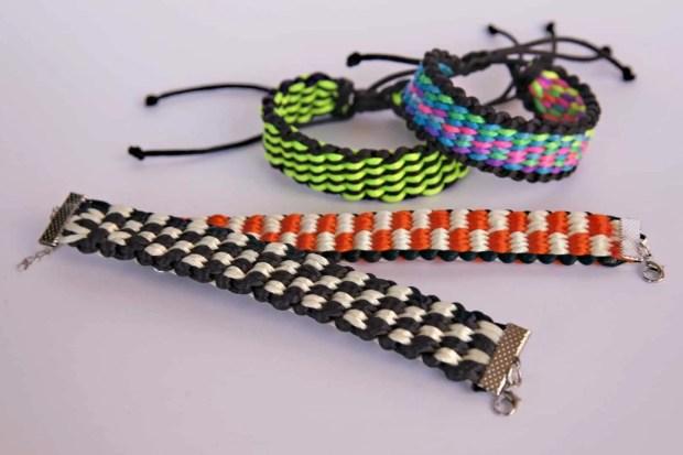 4 diseños de pulseras kumihimo para telar cuadrado