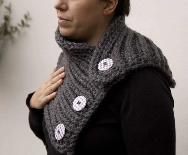 Cuello de lana punto ingles