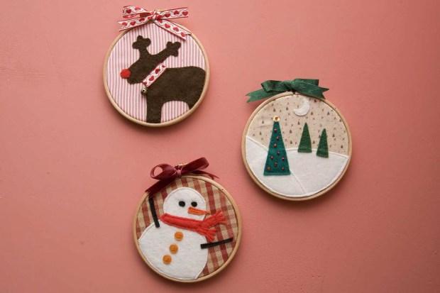 adornos de navidad con bastidores - Como Hacer Adornos De Navidad
