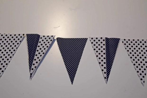guirnalda de banderines de tela adhesiva