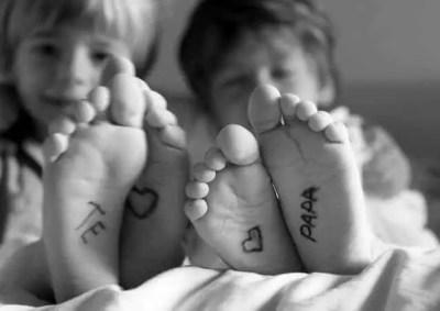 Foto de dos niños para el día del padre