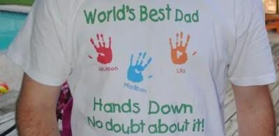 camiseta con huellas para papa