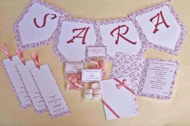 Kit imprimible para primera comunión niña