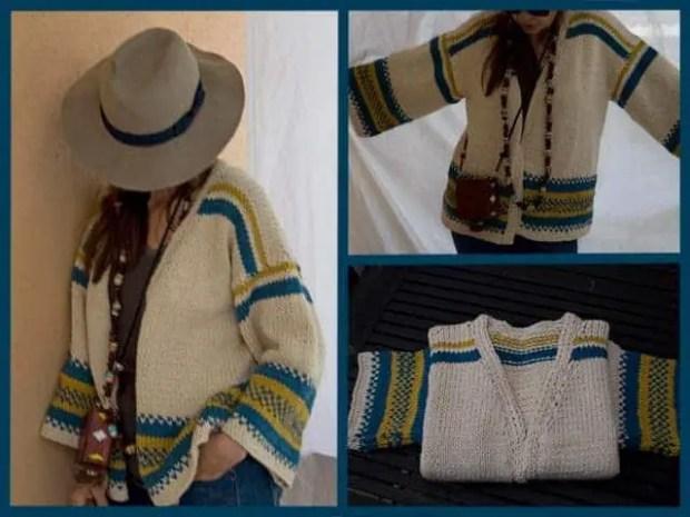 chaqueta de mujer tejida en algodon