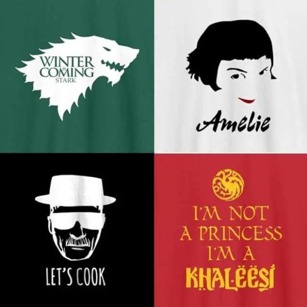 camisetas personalizadas de peliculas y series