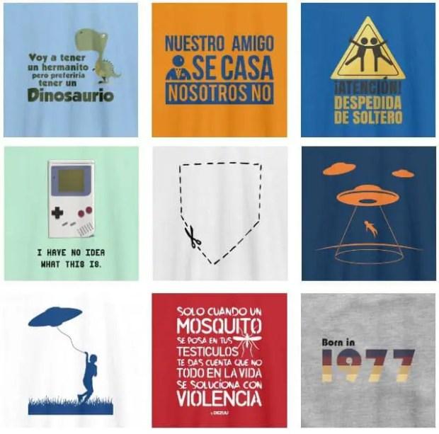 varios modelos de camisetas personalizadas