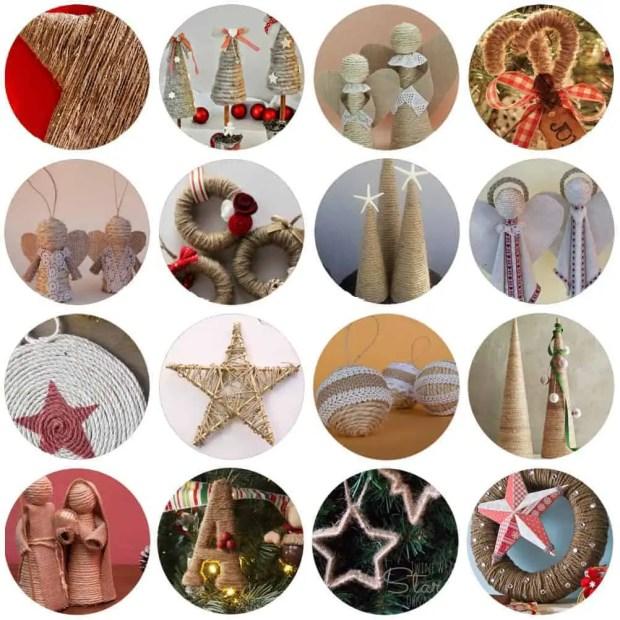 DIY: 16 Adornos de navidad con cuerda