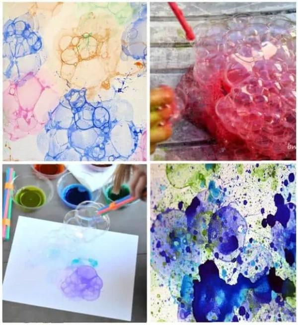 Burbujas de colores para pintar