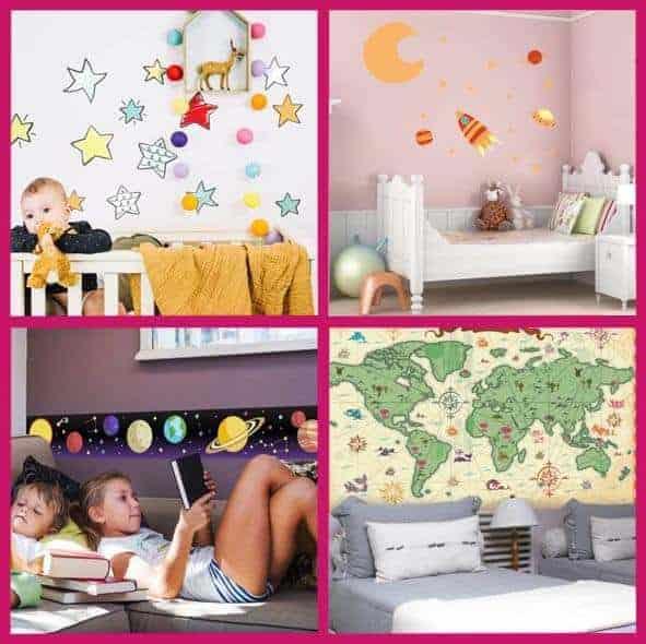 Las ventajas de utilizar vinilos adhesivos en la decoración infantil*