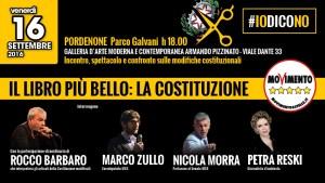 Read more about the article IL NO AL REFERENDUM COSTITUZIONALE IN UN INCONTRO/SPETTACOLO CON MORRA, ZULLO E BARBARO
