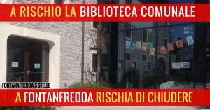 Read more about the article A RISCHIO LA BIBLIOTECA DI FONTANAFREDDA!