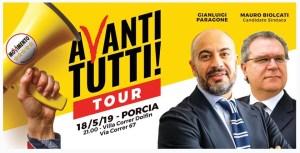 AVANTI TUTTI TOUR A PORCIA CON GIANLUIGI PARAGONE