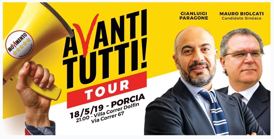 Read more about the article AVANTI TUTTI TOUR A PORCIA CON GIANLUIGI PARAGONE