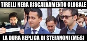La dura replica di Stefanoni (M5S) a Tirelli (delfino del Sindaco) che nega il fenomeno del riscaldamento globale invitando i giovani del Friday For Future a non sostituirsi a Dio