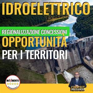 Read more about the article Idroelettrico, Sut (M5S): regionalizzazione concessioni opportunità per i territori