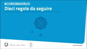 10 Regole anti-coronavirus 🦠