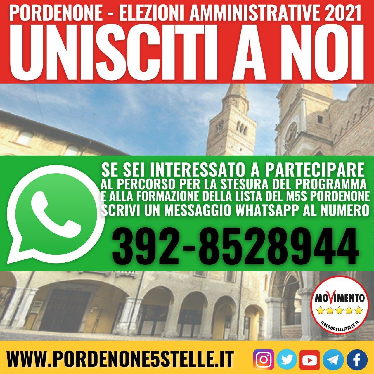 Elezioni amministrative 2021 UNISCITI A NOI!