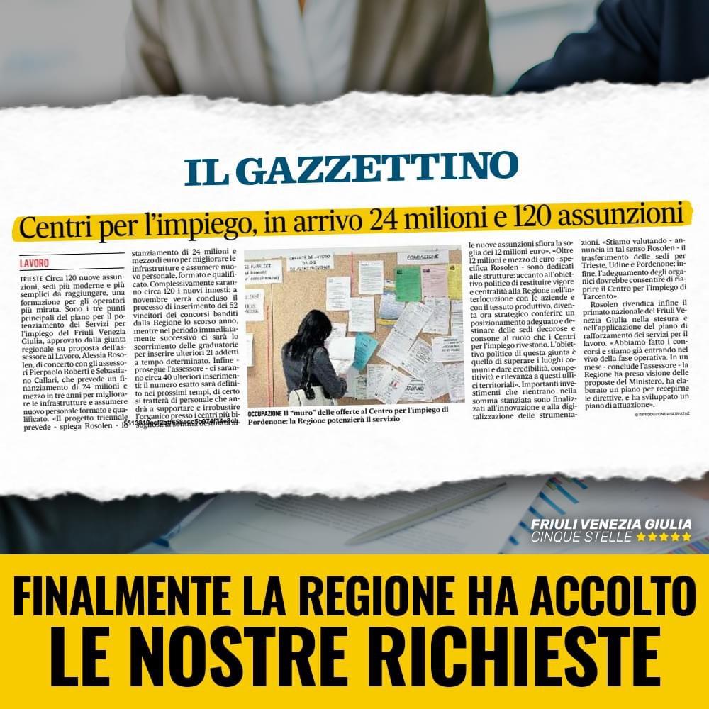 """Capozzella – Sut: """"CPI, Regione ha accolto nostre sollecitazioni"""" 1"""