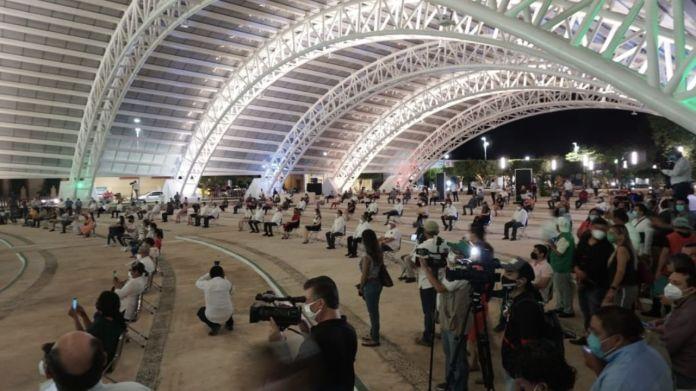 Música y baile en inauguración de concha acústica en Campeche | PorEsto