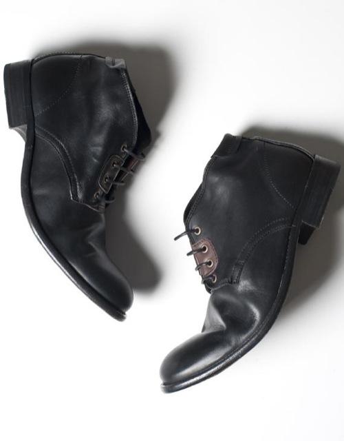 H by Hudson Washed Black Alaska Desert Boot