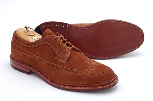 In Stock | Alden Snuff Suede Longwing Blucher