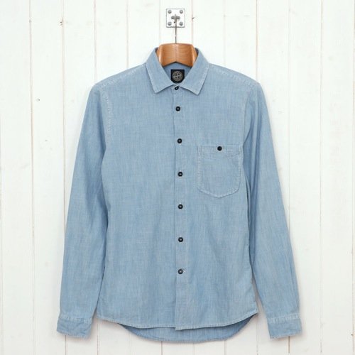The Want | Stone Island Chambray Shirt