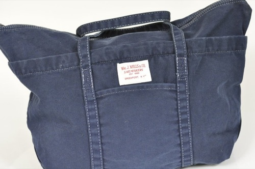Wm. J. Mills & Co. Jitney Cargo Bag Stonewashed Vintage Series in Navy