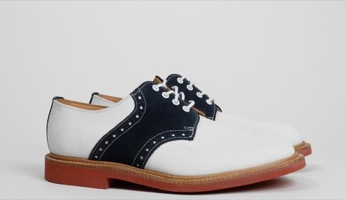 Mark McNairy Saddle Shoe in White
