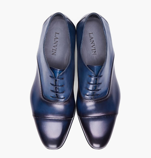 Lanvin Navy Torsade Shoes - F/W 2012