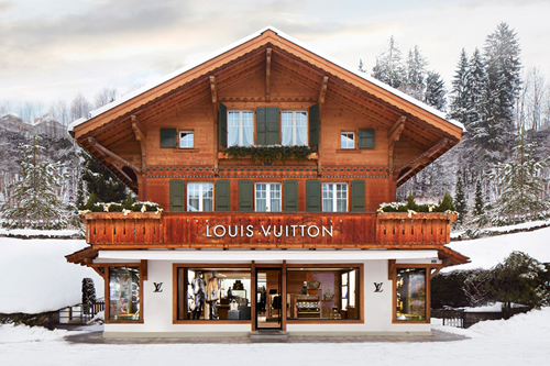 "Now Open | Louis Vuitton ""Winter Resort"" Store in Switzerland"