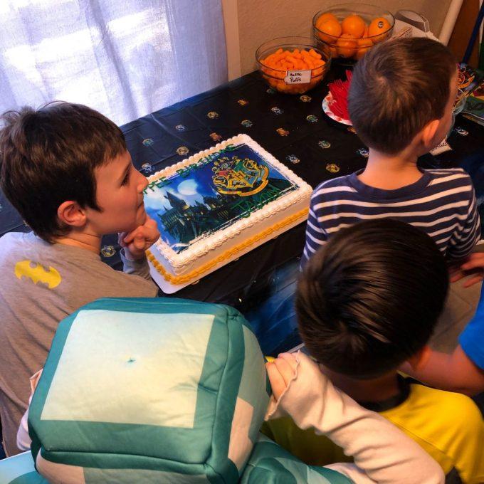 Jaxon and his Harry Potter birthday cake