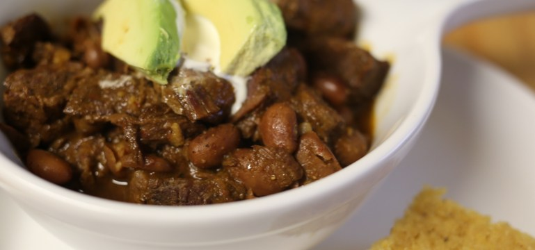 1-hour Pressure Cooker Texas-Style Chile Con Carne | Pork Cracklins