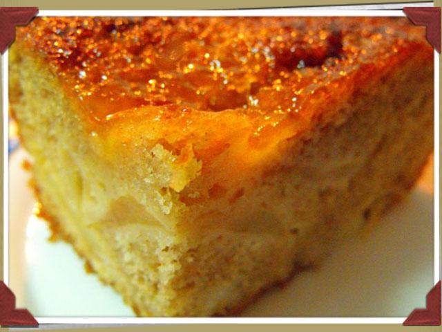 Bizcocho con manzana y queso fresco batido