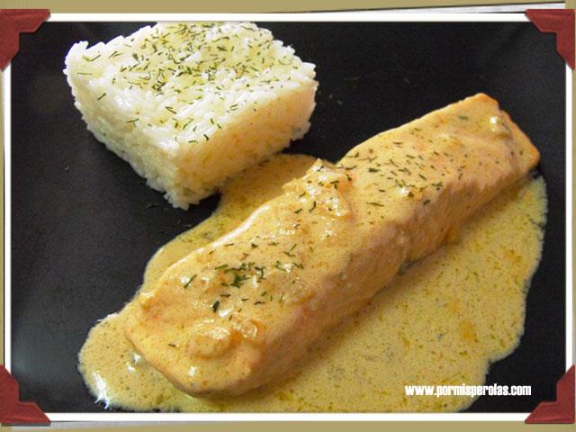 Salmón en salsa Lapsang Souchong