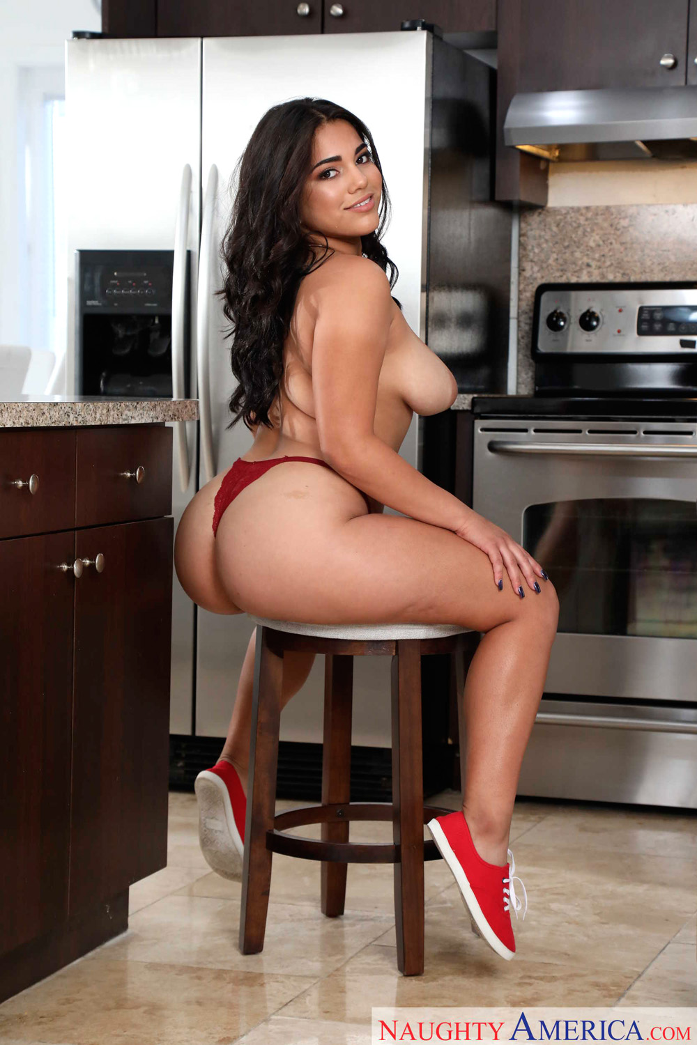 Julz Gotti gets screwed by her friends brother in the kitchen