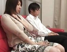 Mother and son watching porn together experiment five