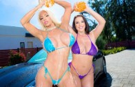 Angela and Nicolette Get Wet –  Angela White and Nicolette Shea