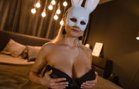 Blonde bunny shares Easter treat – Lily Joy