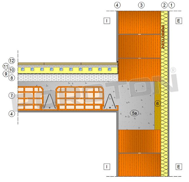 Ponti termici nodo paretesolaio  POROTON