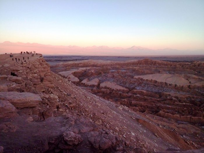 Valle de la Luna, San Pedro de Atacama, al atardecer.