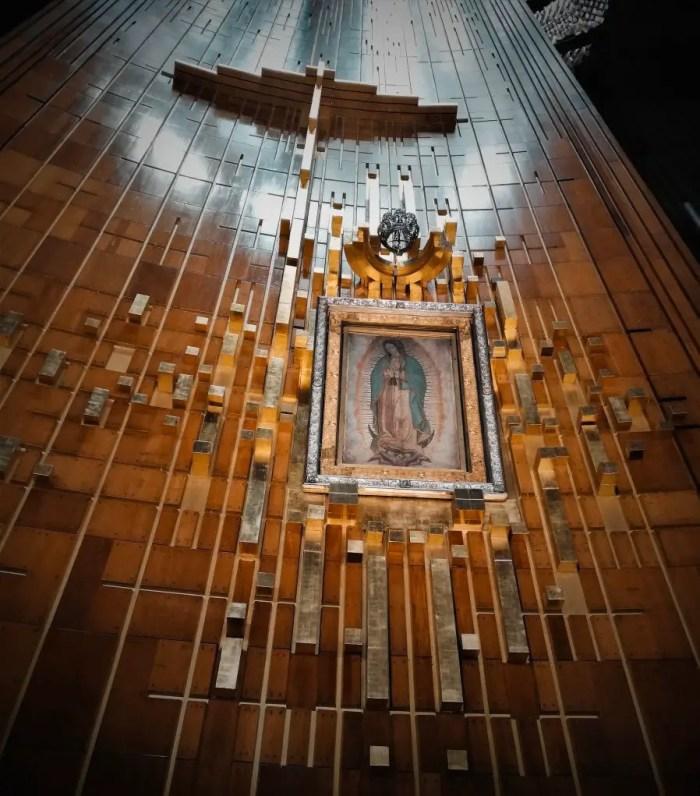Cuadro original de la Basílica de la Virgen de Guadalupe.