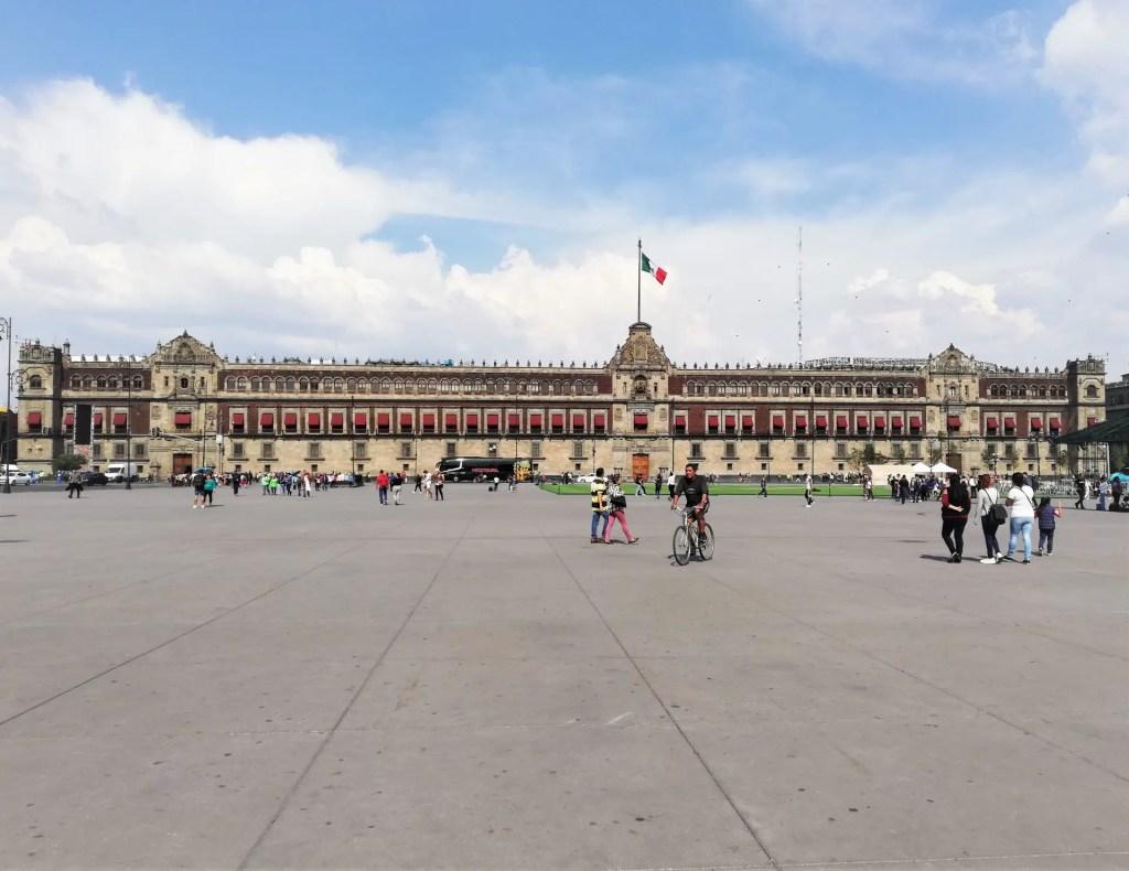 Fotografía del Zócalo de Ciudad de México.