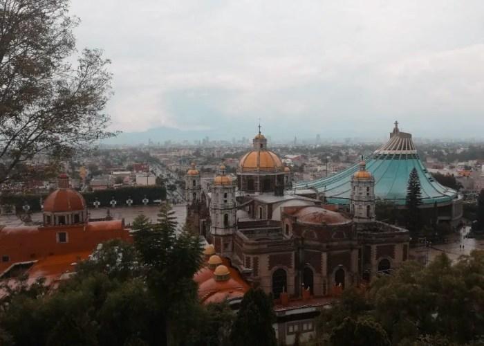 Vista de la Basílica de la Virgen de Guadalupe desde la Capilla del Cerrito.