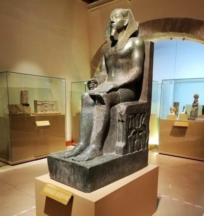 Sala egipcia del museo de las culturas del Centro Histórico de Ciudad de México.