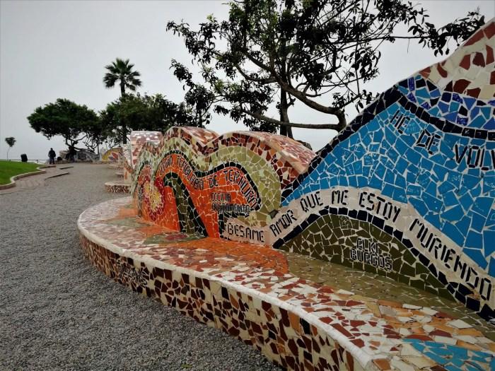 Foto del Parque del Amor de Miraflores, Lima.